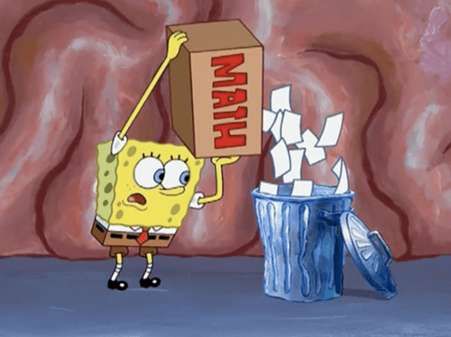 trash,SpongeBob SquarePants,math