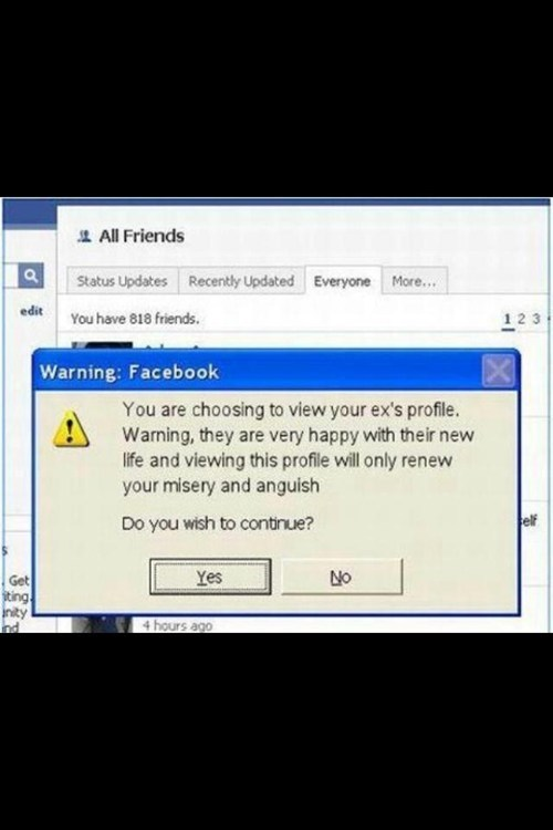 anguish facebook profile misery exes - 7093817344