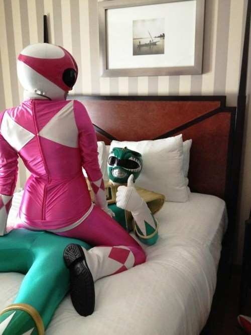 power rangers,pink ranger,green ranger,shipped
