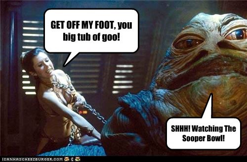 star wars,super bowl,jabba the hutt,carrie fisher,Princess Leia