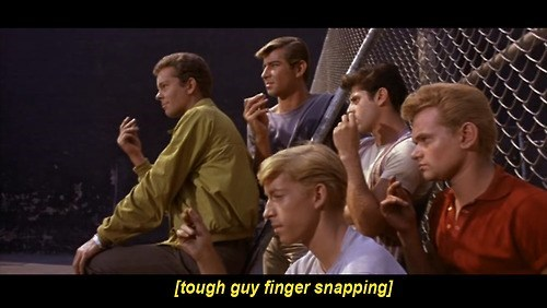 closed captions,musicals,finger snaps,west side story