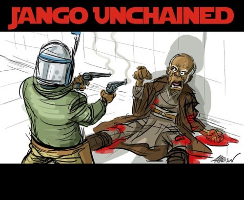 Jango Fett,Mace Windu,star wars,django unchained
