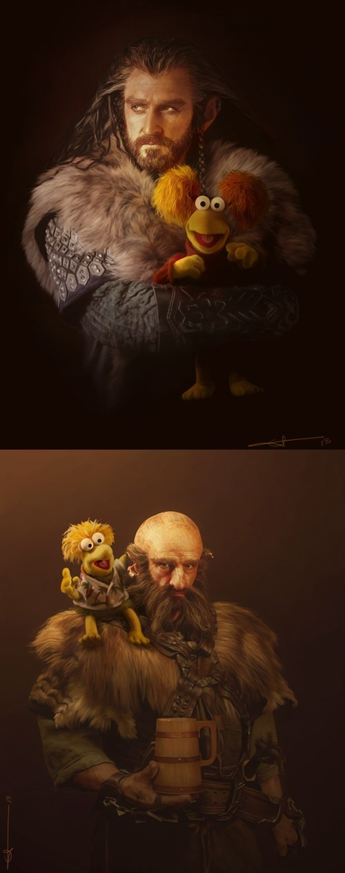 Fan Art,The Hobbit,dwalin,fraggle rock,thorin oakenshield