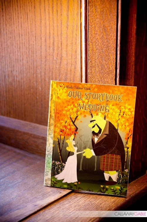 golden books wedding program fairytales