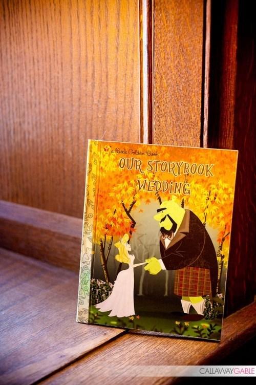 golden books wedding program fairytales - 7093963264