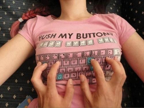 flirty push my buttons t shirts keyboards - 7094097152
