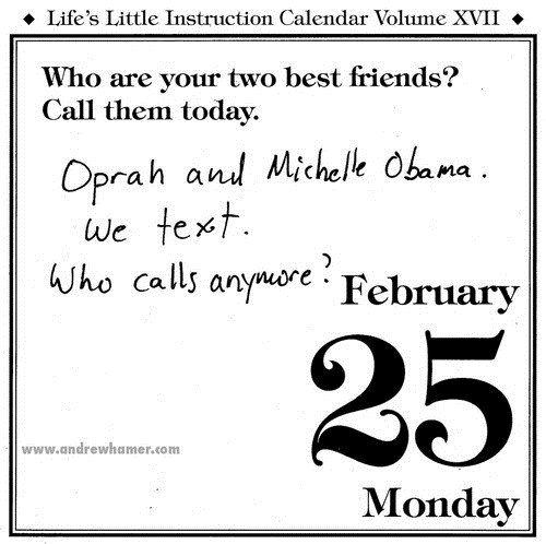 calendar,friends,oprah,Michelle Obama