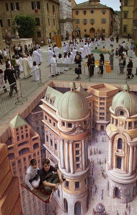 Street Art,chalk art,illusion