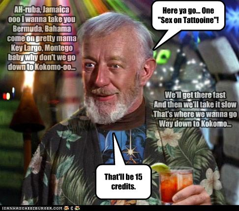 bar,obi-wan kenobi,Alec Guinness,star wars,tiki