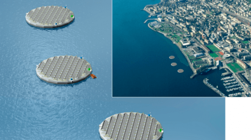 solar islands,floating power cells