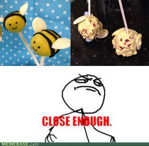 cake pops Close Enough bees Nailed It - 7094163712