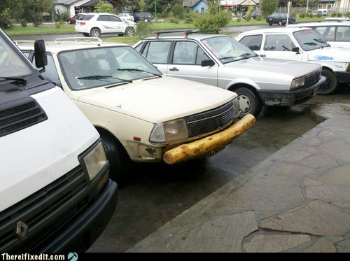 car bumper wooden bumper car fail bumper