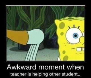 Awkward teacher SpongeBob SquarePants