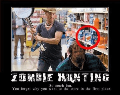 zombie,grocery list,twinkies