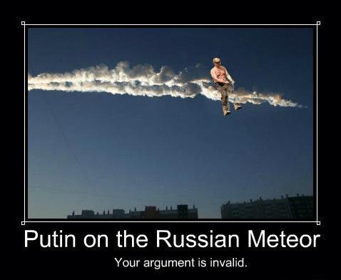 russia meteor wtf Vladimir Putin - 7094288640