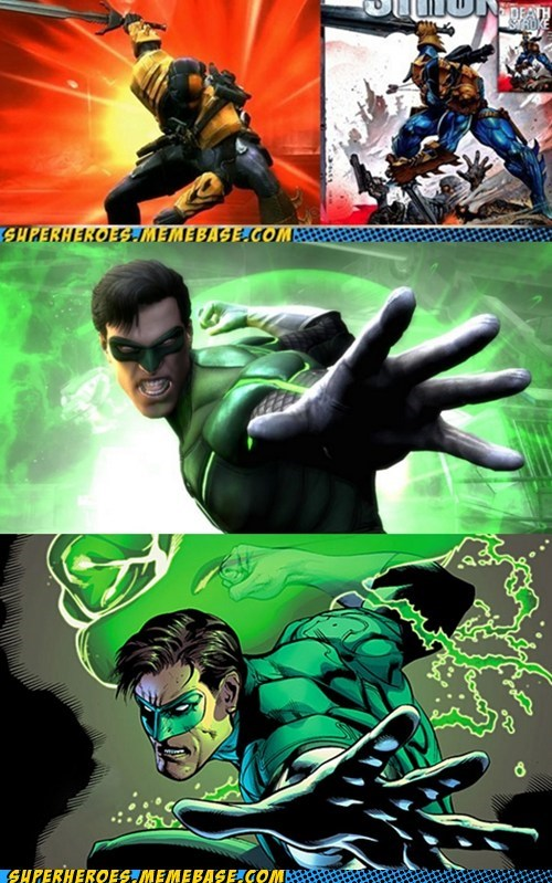 pose,Green lantern,video games