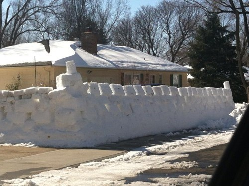 snow snow fort winter - 7094513152