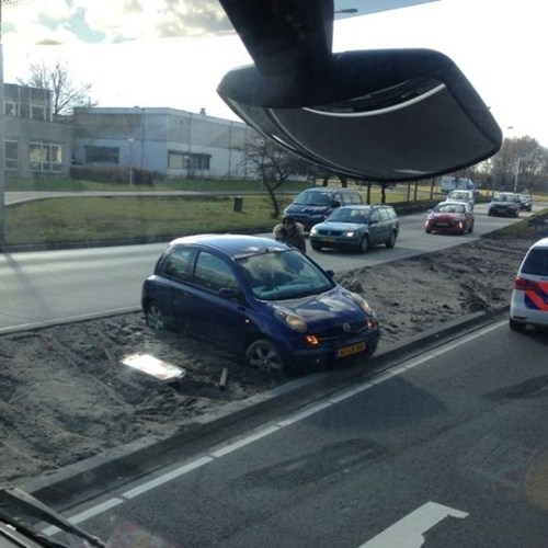 whoops,cars,bad day,cement