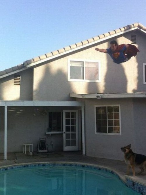 dive,pool,superman
