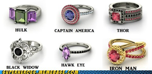 rings Thor iron man avengers - 7094858752
