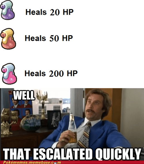 Pokémon potions Memes video game logic - 7094999552