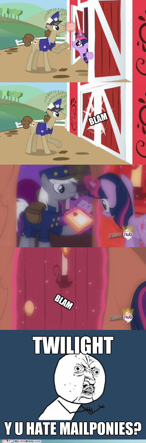 mailponies,twilight sparkle,Y U No Guy