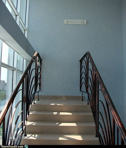 At least they finished the stairs....