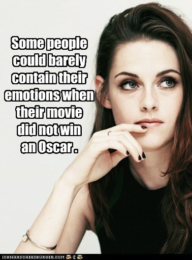 Some people could barely contain their emotions when their movie did not win an Oscar .
