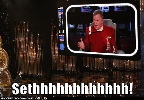 khaaaaan,Seth MacFarlane,William Shatner,oscars 2013