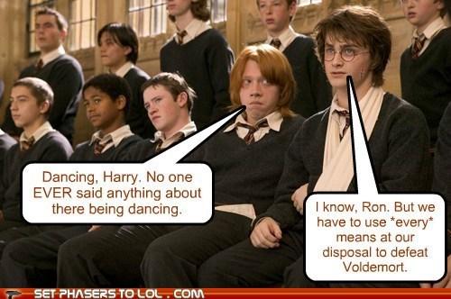 dancing,Harry Potter,voldemort,Daniel Radcliffe,rupert grint,Ron Weasley