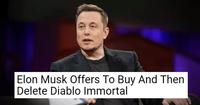Funny memes about diablo immortal, video games, blizzard, elon musk.
