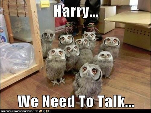 Harry...  We Need To Talk...