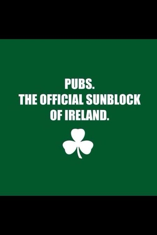 sunblock pale Ireland pubs after 12 g rated