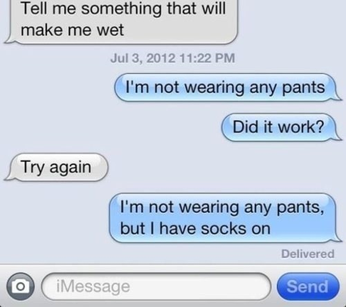 iPhones socks pants sexy talk AutocoWrecks