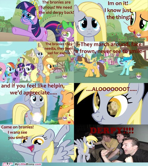 derpy hooves magical mystery cure reaction guys true true friend - 7098828288