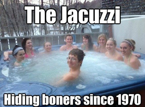 jacuzzi,hiding,boner,dating fails