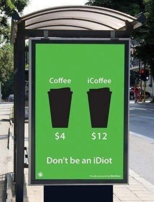 coffee,idiot,apple