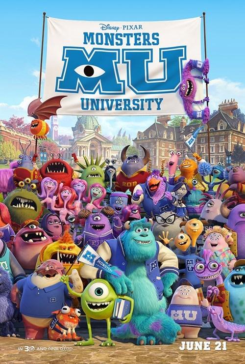 monsters university,movies,posters,pixar,walt disney