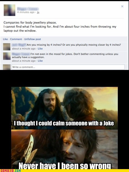 rage never have I been so wrong The Hobbit facebook - 7101361408