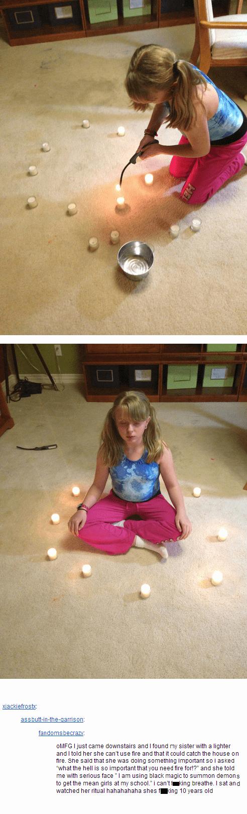 Black magic seance candles - 7101381888