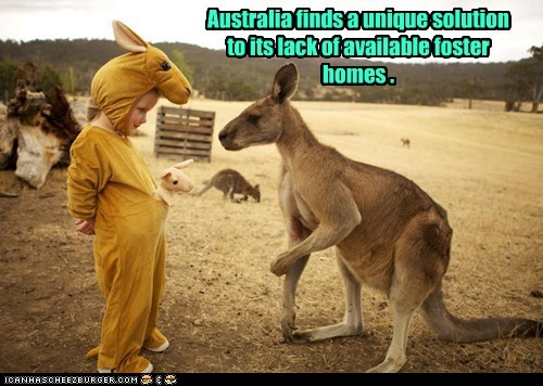 kids,australia,foster homes,costume,kangaroos