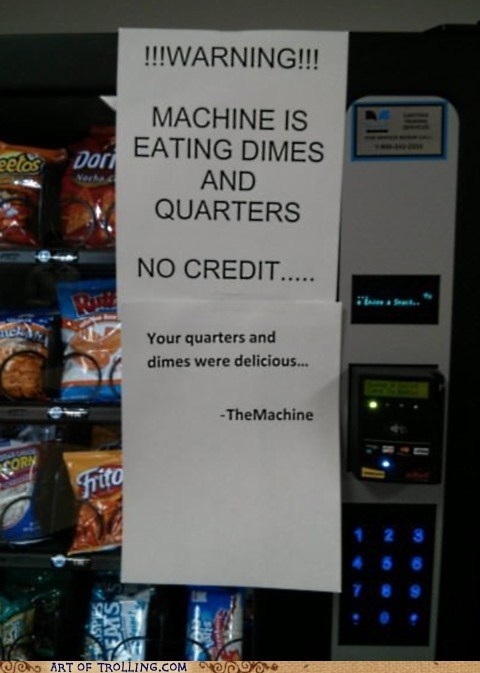 vending machine,money
