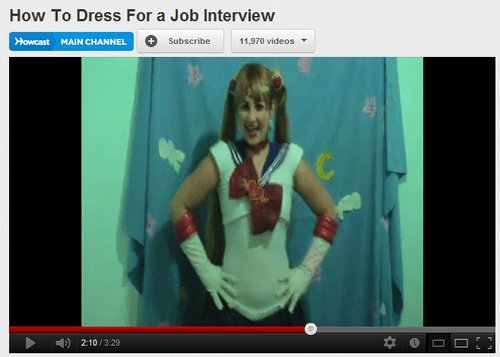 costume,job interviews,youtube