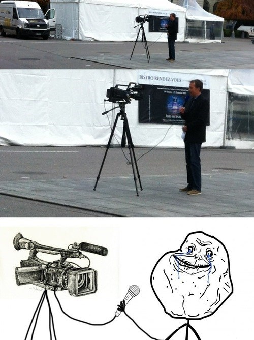 forever alone,camera guy