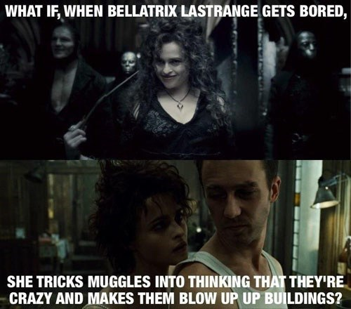 Harry Potter helena bonham-carter fight club - 7101579520