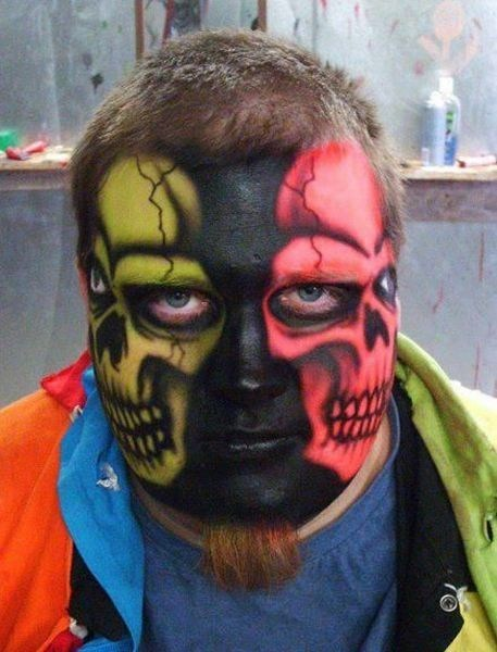 creepy skulls face paint poorly dressed g rated - 7101775616