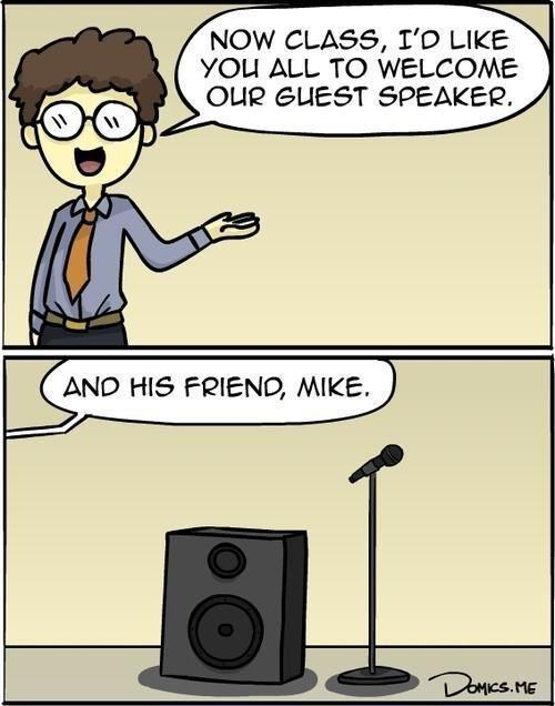 mike,mic,homophones,microphone,double meaning,guest,speaker