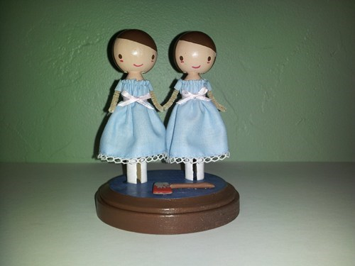 clothespins dolls twins the shining