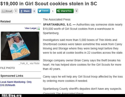 news,cookies,Probably bad News,girl scouts