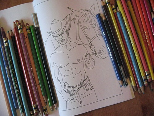Cowboys adult coloring books